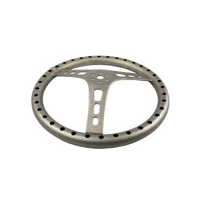 "Steering & Suspension - Quick Car - QuickCar 68-005 15"" Light Weight Silver Aluminum Steering Wheel"