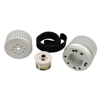 Cooling - Pulleys, Belts & Kits - Assault Racing Products - SBC Small Block Chevy Billet Aluminum Gilmer Belt Drive Pulley Kit 305 350 400