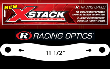 "Stocking Stuffers - Tearoffs - Racing Optics Inc - Racing Optics XStack 10203C 11-1/2"" Button Center-Simpson Matrix JR Shark Auto"