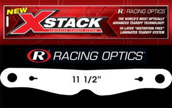 "Stocking Stuffers - Tearoffs - Racing Optics Inc - Racing Optics XStack 10204C 11-1/2"" Button Ctr-Simpson RX/Super Bandit Tear Offs"