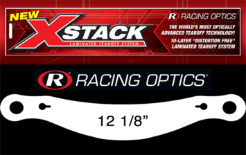 "Stocking Stuffers - Tearoffs - Racing Optics Inc - Racing Optics XStack 10208C 12-1/2"" Button Ctr-Bell GTX-2/GP-2 Zamp Tear Offs 30"