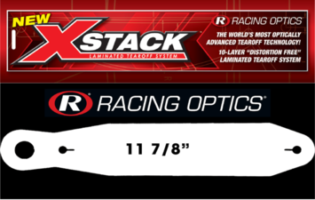 Stocking Stuffers - Tearoffs - Racing Optics Inc - Racing Optics XStack 10250C Fits Sparco, Arai GP-6 and GP-6S with F1 Zylon Visor