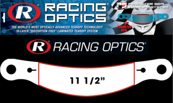 "Stocking Stuffers - Tearoffs - Racing Optics Inc - Racing Optics XStack 10206CP Perimeter Seal 11-1/2"" Button Ctr-Bell GTX.3, Carbon Tear Offs 30"