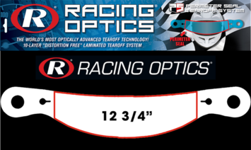 "Stocking Stuffers - Tearoffs - Racing Optics Inc - Racing Optics XStack 10209CP Perimeter Seal 12-3/4"" Button Ctr-Simpson Tear Offs-1 Sleeve of 30"