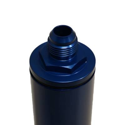 """Fuel System & Components - Fuel Filters - Assault Torque Converters - Assault Racing In-line Fuel Filter with Paper Element 10AN Fittings 10"""" Long Gas"""