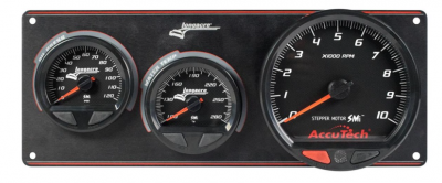 Gauges & Accessories - Gauge Panels - Longacre - SMi™ Elite Waterproof Gauge Panel, 2 Gauge Oil Pressure/Water Temperature with Tach LON 44572