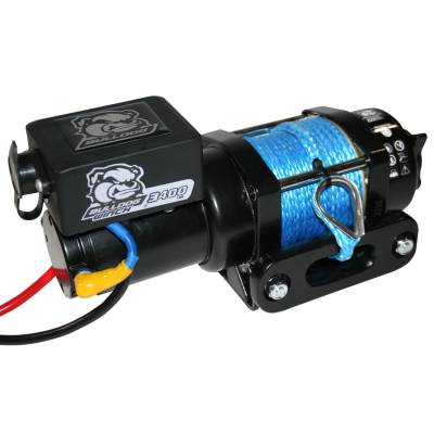 Truck Accessories - BullDog Winch - Bulldog Winch 15018 3400lb Trailer/Utility Winch / 50' Synthetic Rope