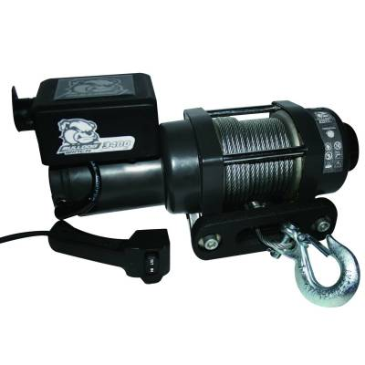 Truck Accessories - BullDog Winch - Bulldog Winch 15017 3400lb Trailer/Utility Winch / 45' Wired Rope