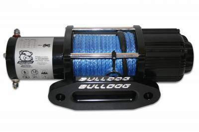 Truck Accessories - BullDog Winch - Bulldog Winch 15012 4000lb UTV/Utility Winch, long drum, 50ft Synthetic Rope