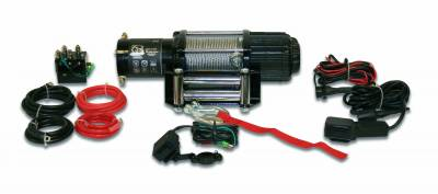 Truck Accessories - BullDog Winch - Bulldog Winch 15004 4000lb UTV/Utility Winch, long drum, 50ft Wired Rope