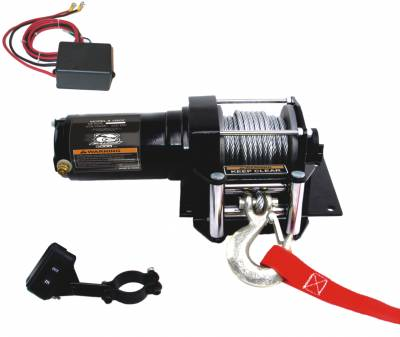 Truck Accessories - BullDog Winch - Bulldog Winch 15002 3000lb ATV Winch with Wired Rope