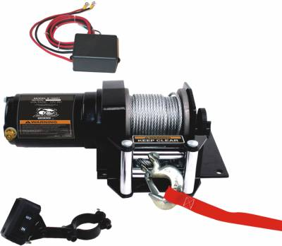 Truck Accessories - BullDog Winch - Bulldog Winch 15001 2000lb ATV Winch with Wired Rope