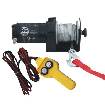 Truck Accessories - BullDog Winch - Bulldog Winch 15008 2000lb Utility Winch, 50ft wire rope