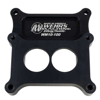 """Circle Track & Racing - Wehrs Machine - Wehrs Machine WM10-100 2BBL into 4BBL Intake Carb Adapter tapered 1"""" Tall"""