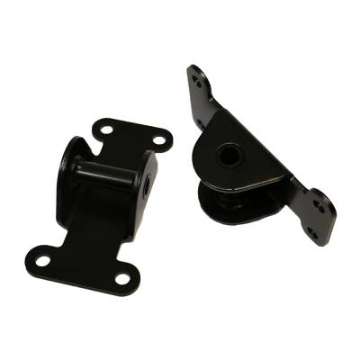 Engine Components & Valvetrain - Accessory Mounting Brackets - Assault Racing Products - SBC Small Block Chevy Solid Black Engine Frame Mount Set 327 350 400 Off Road Racing