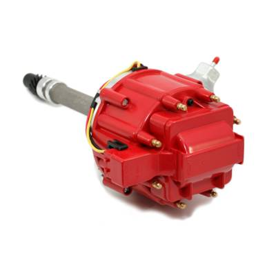 Distributors & Components - Distributors - Assault Racing Products - Chevy Big & Small Block 350 454 HEI Distributor 65K Coil Red Cap w/ Tach Drive