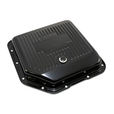 GM Chevy Turbo 350 Black Automatic Transmission Pan - Stock Capacity TH350 Trans