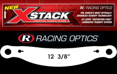 "Stocking Stuffers - Tearoffs - Racing Optics Inc - Racing Optics XStack 10205C 12-3/8"" Button Center-Bell Tear Offs"