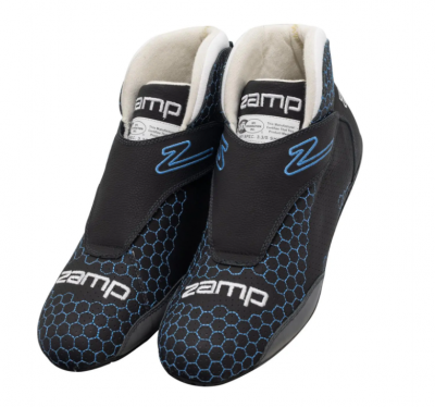 Zamp ZR-60 SFI 3.3/5 Race Shoes Blue Honeycomb Size 12 RS004C0412