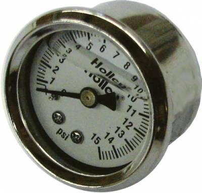 Fuel System & Components - Fuel Pressure Gauges - Holley - Holley Inline Fuel Pressure Gauge