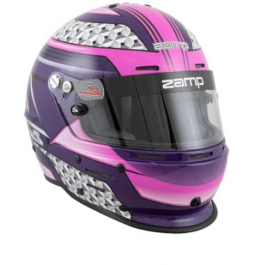 Zamp RZ-62 Helmet Pink / Purple Graphic Snell SA2020