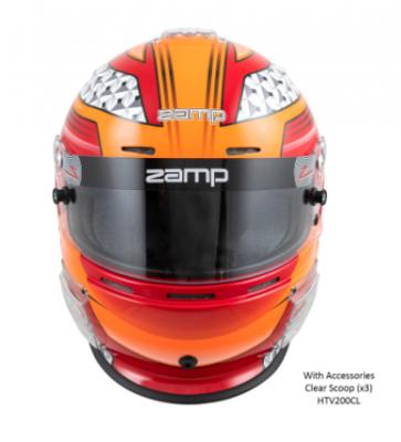 Zamp RZ-62 Helmet Red / Orange Graphic Snell SA2020