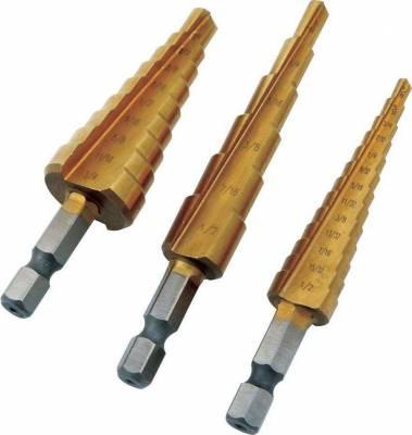 ALLSTAR PERFORMANCE Step Drill Set 3pc ALL11040